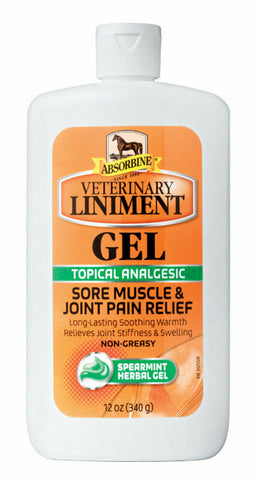 Absorbine Veterinary Liniment Gel for Muscle and Joint Pain - 12 oz