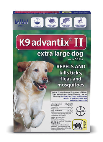 K9 Advantix for Extra Large Dogs Over 55 lbs. - 6 pack