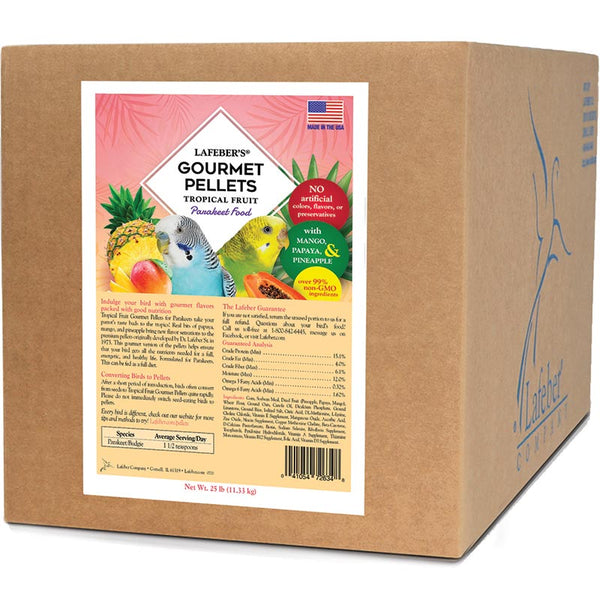 Tropical Fruit Gourmet Pellets for Parakeets - 25 lb. - CountrysidePet.com