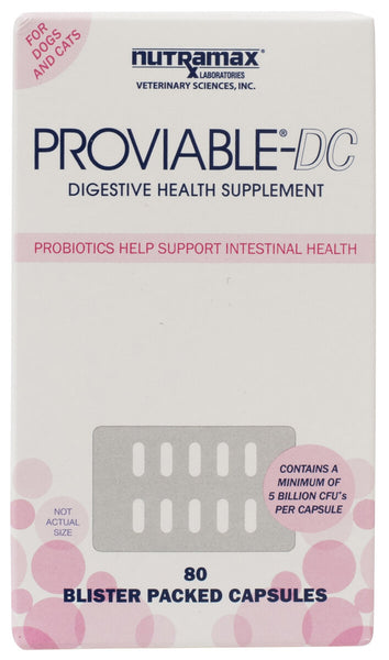 Proviable-DC Digestive Health Supplement for Dogs and Cats - 80 Capsules