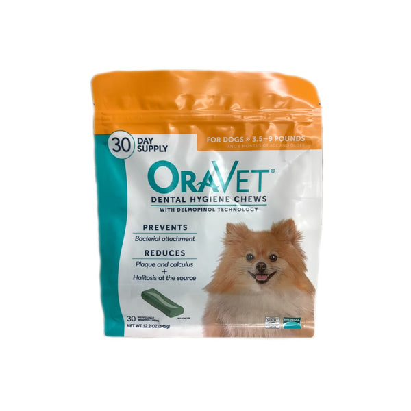 OraVet Dental Chews for Dogs 3.5-9 lb by Merial