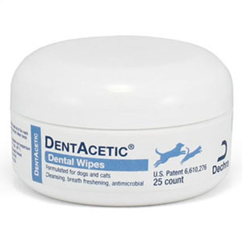 DentAcetic Wipes (25 Wipes) - Countryside Pet Supply - 1