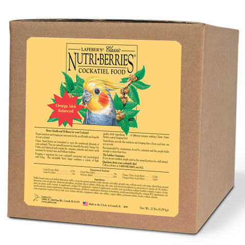 Lafeber Original Nutri-Berries Cockatiel (20 Lbs) -- FREE SHIPPING - Countryside Pet Supply - 1