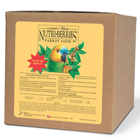 Lafeber Original Nutri-Berries - Parrot (20 Lbs) -- FREE SHIPPING - Countryside Pet Supply - 1