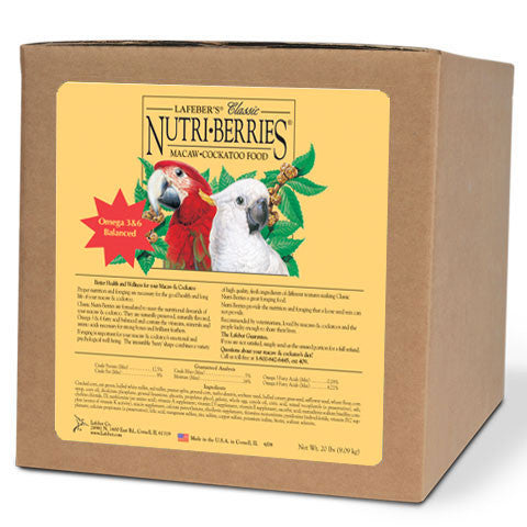 Lafeber Original Nutri-Berries Macaw and Cockatoo - 20lb. Box