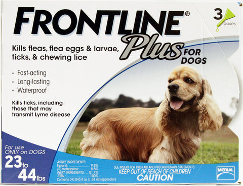 Frontline Plus for Dogs - 23-44lbs