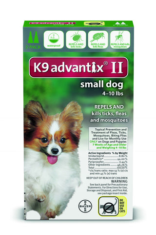 K9 Advantix for Small Dogs 4-10 lbs. - 2 pack