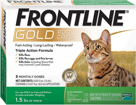 Frontline Gold for Cats 3 Month Supply - CountrysidePet.com