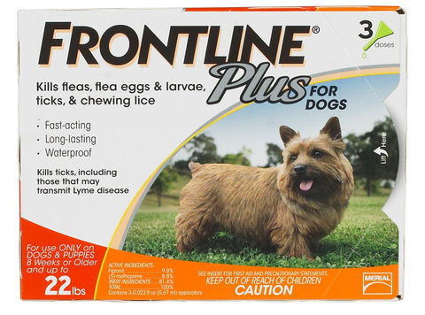 Frontline Plus for Dogs - Up to 22lbs