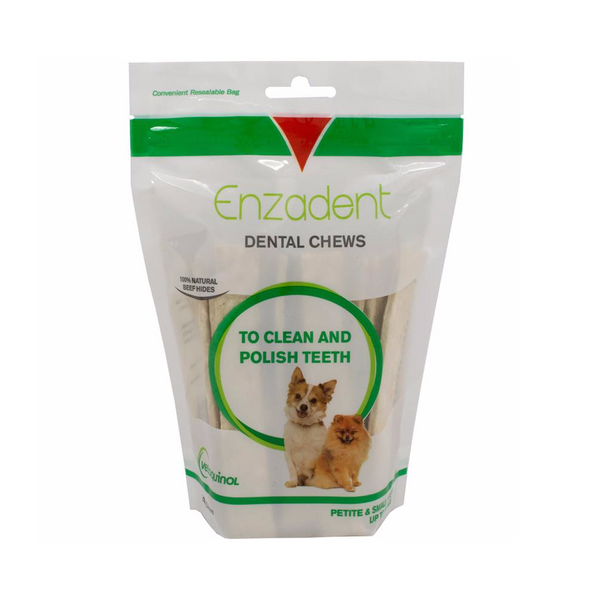 Enzadent Dental Chews for Petite/Small Dogs - Countryside Pet Supply