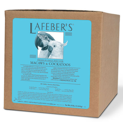 Lafeber Premium Daily Diet Pellets for Macaws & Cockatoos - 25 lb. Box