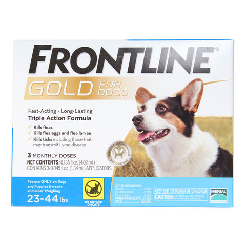 Frontline Gold for Dogs 23-44 lb. 3 Month Supply - CountrysidePet.com