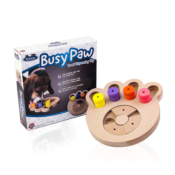 Busy Paw Challenging Treat Dispensing Toy for Dogs by Flipo