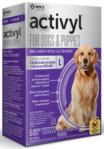 Activyl for Dogs 44-88  lbs - 6 Month Supply