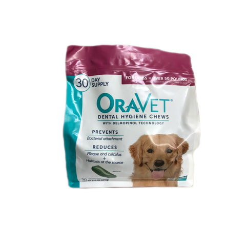 Oravet Dental Chews for Dogs - Over 50 lb.