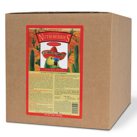Lafeber El Paso Nutri-Berries Parrot (20 lb Box)  - FREE SHIPPING - Countryside Pet Supply - 1