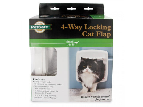 PetSafe 4-Way Locking Cat Door with Tunnel