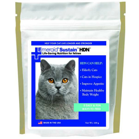 EmerAid Sustain HDN Life-Saving Nutritional Powder for Felines - 100 Grams