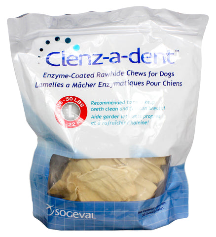 Clenz-A-Dent Rawhide Chews for Dogs - CHOOSE SIZE - Countryside Pet Supply