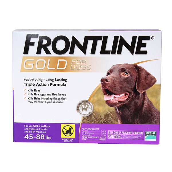 Frontline Gold for Dogs 45-88 lb. 3 Month Supply - CountrysidePet.com