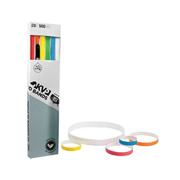 "KVP ID Bands 20"" in 6 Colors w/ Marker 500ct"