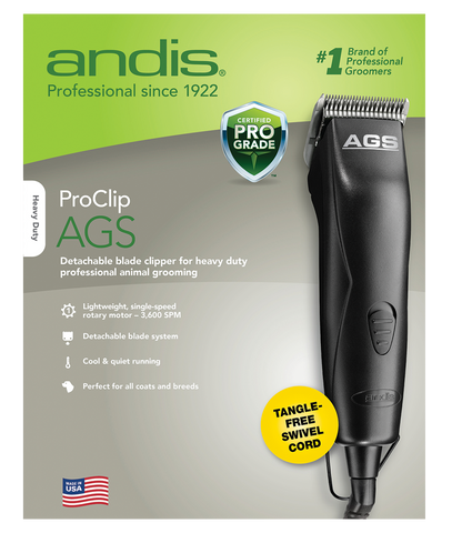 Andis ProClip AGS Animal Clipper (In Packaging)- Black - 63125 - Countryside Pet Supply