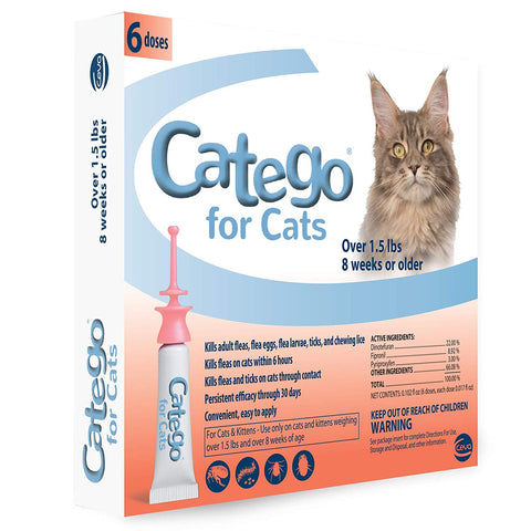 Catego Flea & Tick Topical 6 Dose - Countryside Pet Supply