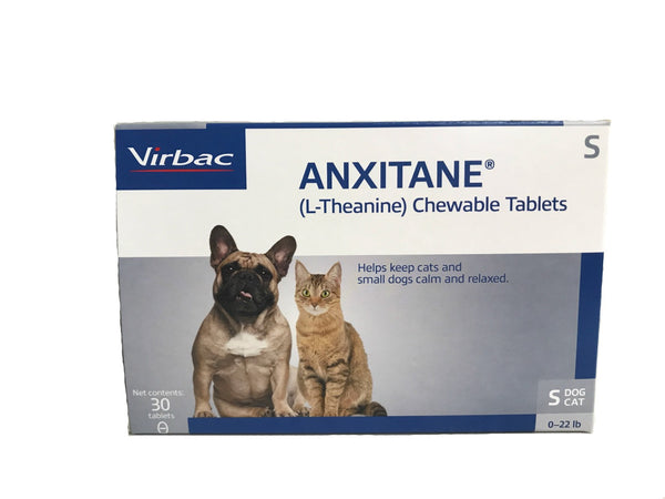 Anxitane (L-Theanine) - 30 Chewable Tablets - Countryside Pet Supply