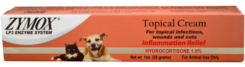 Zymox Topical Cream WITH 1% Hydrocortisone - 1oz