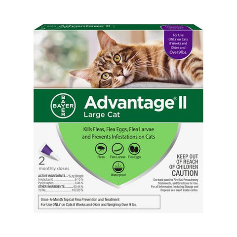 Advantage II for Large Cats Over 9 lbs. - 2 Pack