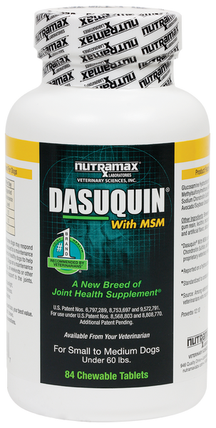 Dasuquin with MSM Joint Health Chewable Tablets for Small to Medium Dogs - 84 count