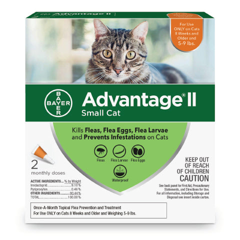 Advantage II for Small Cats - 5-9 lbs - 2 pack - CountrysidePet.com