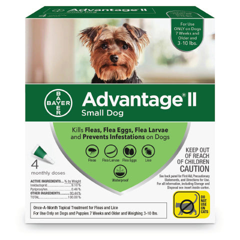 Advantage 2 topical flea control for dogs 3 - 10lbs - CountrysidePet.com