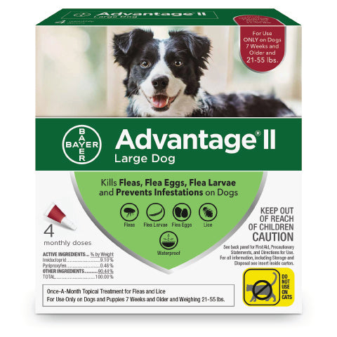 Advantage 2 topical flea control for dogs 21 - 55lbs - CountrysidePet.com