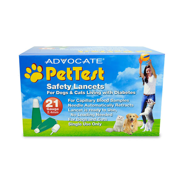 PetTest Safety Lancets - 21GA Box of 100