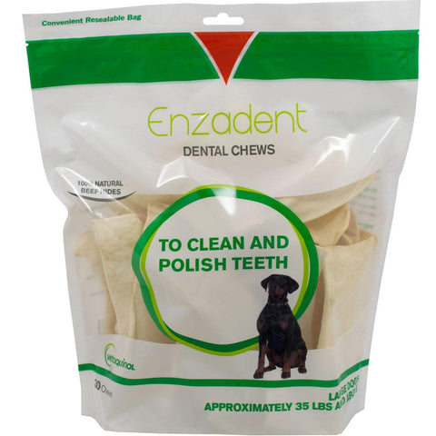 Enzadent Dental Chews for Large Dogs - Countryside Pet Supply