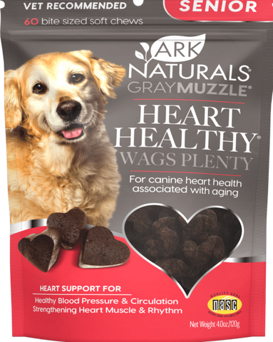 Gray Muzzle Heart Healthy Wags Plenty Heart Supplement for Senior Dogs - CountrysidePet.com