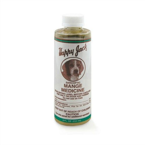 Happy Jack Sarcoptic Mange Medicine for Dogs & Horses 8 oz.