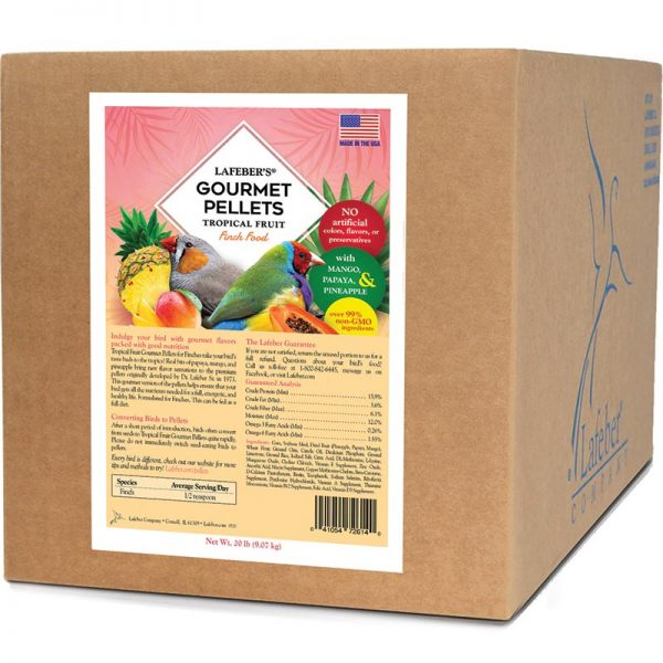 Tropical Fruit Gourmet Pellets for Finches - 20 lb.