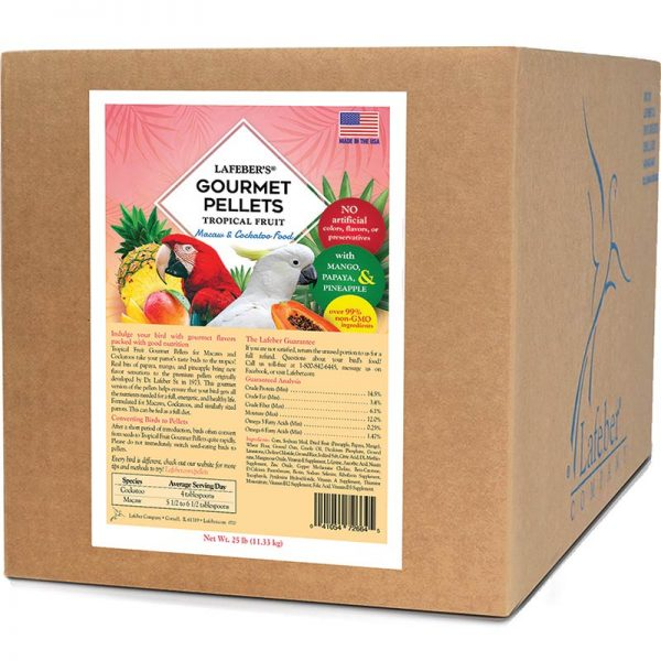 Tropical Fruit Gourmet Pellets for Macaws - 25 lb. - CountrysidePet.com