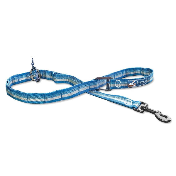 Ready, Set, GO Stub Leash Coastal Blue/Grey by Kurgo