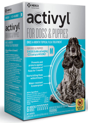 Activyl for Dogs 22-44  lbs - 6 Month Supply