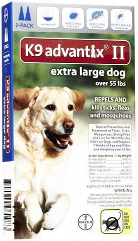 K9 Advantix for Extra Large Dogs Over 55 lbs. - 2 pack