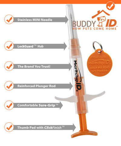 Pro ID Buddy ID Mini Microchip - 134kHz 25 Microchips - $6.75 each - Countryside Pet Supply - 2