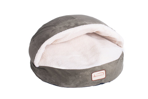 Faux Suede & Fleece Circle Sleeper Cat Bed by Armarkat - Laurel Green/Ivory - CountrysidePet.com