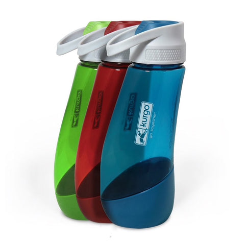 Gourd Pet Water Bottle & Bowl by Kurgo at Countrysidepet.com