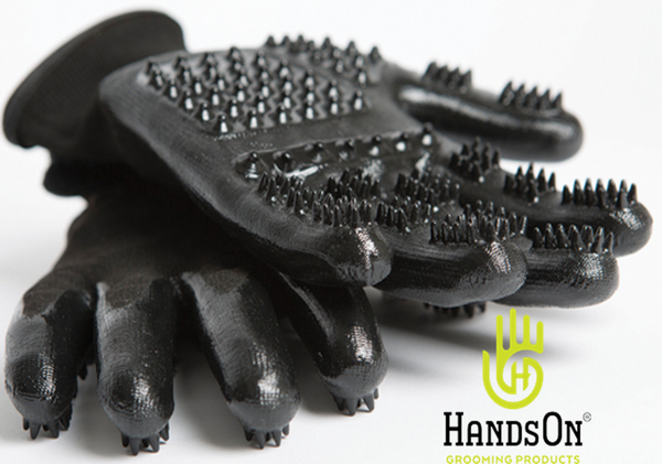 HandsOn Grooming Gloves - Black