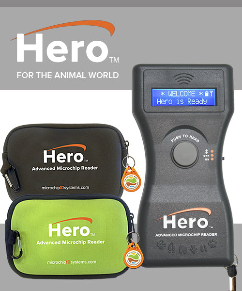 New Hero Universal Microchip Scanner by Microchip ID Systems
