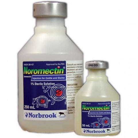 Noromectin (Ivermectin) 1% Injectable Dewormer for Cattle - 50 mL - Countryside Pet Supply - 1