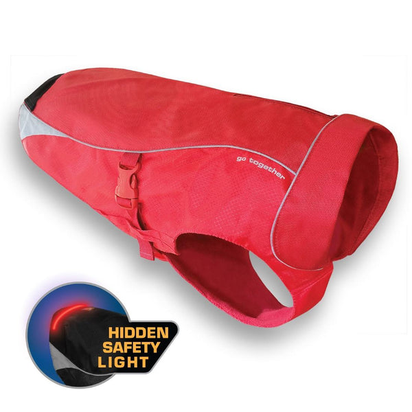 Kurgo North Country Waterproof Dog Coat Red - CountrysidePet.com